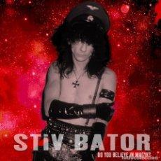 Discos de vinilo: STIV BATOR ( LORDS OF THE NEW CHURCH / DEAD BOYS )DO YOU BELIEVE IN MAGYK LP VINILO ROJO PRECINTADO. Lote 187522092