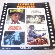 Discos de vinilo: EXITOS DE PELICULAS VOL. 2 - BELTER 1972. Lote 143116678