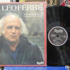 Discos de vinilo: LÉP FERRÉ. ILEST SIX HEURES ICI... ET MIDI Á NEW YORK. BARCLAY 1979, REF. 960 016. LP . Lote 143123950