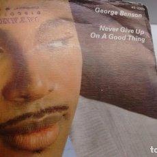 Discos de vinilo: SINGLE (VINILO) DE GEORGE BENSON AÑOS 80. Lote 143124250