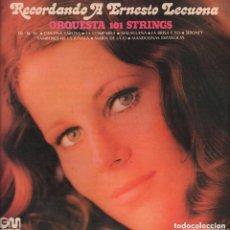 Discos de vinilo: ORQUESTA 101 STRINGS - RECORDANDO A ERNESTO LECUONA LP GRAMUSIC DE 1972,RF-6933. Lote 143126086