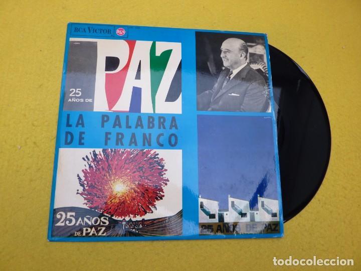 LP 25 AÑOS DE PAZ LA PALABRA DE FRANCO (EX/M-) 1964 VINILO Ç (Música - Discos - LP Vinilo - Otros estilos)