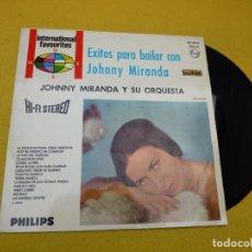 Discos de vinilo: LP JOHNNY MIRANDA ORQUESTA EXITOS PARA BAILAR (EX/EX) 1967 SPANISH VINILO Ç. Lote 143145398