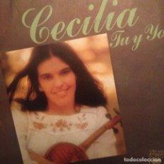 Discos de vinilo: CECILIA: TU Y YO, UNA GUERRA CBS 1976 SG . Lote 143148326