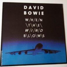 Discos de vinilo: DAVID BOWIE- WHEN THE WIND BLOWS - GERMAN MAXI SINGLE 1986 - VINILO COMO NUEVO.. Lote 143150698