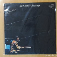 Discos de vinilo: RAY CHARLES - TRUE TO LIFE - LP. Lote 143153298