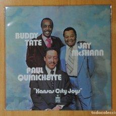 Discos de vinilo: BUDDY TATE / JAY MCSHANN / PAUL QUINICHETTE - KANSAS CITY JOYS - LP. Lote 143154296