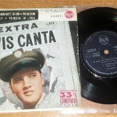 Discos de vinilo: ELVIS PRESLEY EP/ SINGLE CANTA ,3301 - SPAIN 1959, 4 TRACKS * AUTENTICA RAREZA * *OFERTON SOLO HOY**. Lote 143154518