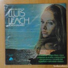 Discos de vinilo: JORDI CALAFELL - LOS GRANDES EXITOS DE LLUIS LLACH - LP. Lote 143155910