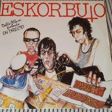 Discos de vinilo: ESKORBUTO IMPUESTO REVOLUCIONARIO DOBLE LP ORIGINAL. Lote 143160492