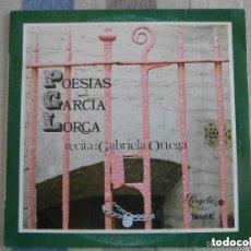 Discos de vinilo: GABRIELA ORTEGA RECITA POESIAS GARCIA LORCA (10 PULGADAS). Lote 143163386