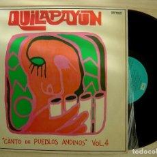 Discos de vinilo: QUILAPAYÚN - CANTO DE PUEBLOS ANDINOS VOL. 4 - LP ESPAÑOL 1975 - ODEON. Lote 143169258