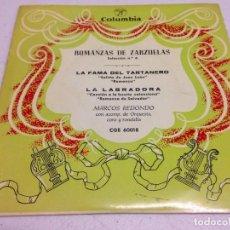 Discos de vinilo: ROMANZAS DE ZARZUELA MARCOS REDONDO. Lote 143174190