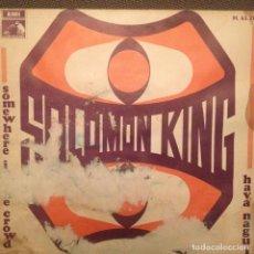 Discos de vinilo: SOLOMON KING: SOMEWHERE IN THE CROWD / HAVA NAGUILA 1968 LES REED. Lote 143180054