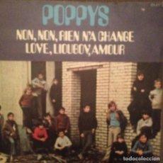 Discos de vinilo: POPPYS: NON, NON, RIEN N´A CHANGE / LOVE, LIOUBOV, AMOUR ED. FRANCESA. Lote 143182894