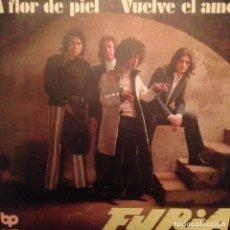 Discos de vinilo: FURIA A FLOR DE PIEL / VUELVE EL AMOR SG DIABOLO 1972 L.GRAVES / R. FARRAN . Lote 143183450
