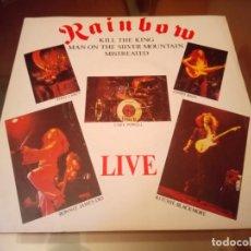 Discos de vinilo: RAINBOW LIVE SINGLE ED INGLESA 1977 DIO DEEP PURPLE. Lote 143184990