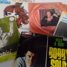 Discos de vinilo: LOTE DE 5 SINGLES (VINILO) DE POP ITALIANO . Lote 143187290