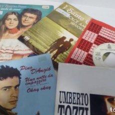 Discos de vinilo: LOTE DE 5 SINGLES (VINILO) DE POP ITALIANO . Lote 143187698