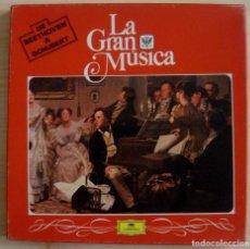 Discos de vinilo: LA GRAN MUSICA - DE BEETHOVEN A SCHUBERT - CAJA CON 4 LP´S - 1982 DEUTSCHE GRAMMOPHON. Lote 143187878