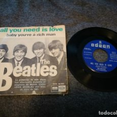 Discos de vinilo: THE BEATLES ?– ALL YOU NEED IS LOVE SINGLE VINILO LP DSOL 66.080 . Lote 143188374