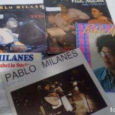 Discos de vinilo: LOTE DE 5 SINGLES (VINILO) DE PABLO MILANES. Lote 143188726