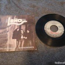 Discos de vinilo: LEÑO – ¡QUE TIRE LA TOALLA! / SORPRENDENTE SINGLE LP VINILO ROSENDO . Lote 143189094