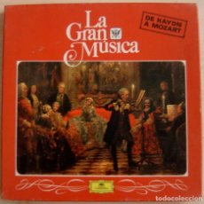 Discos de vinilo: LA GRAN MUSICA - DE HAYDN A MOZART - CAJA CON 4 LP´S - . Lote 143195002