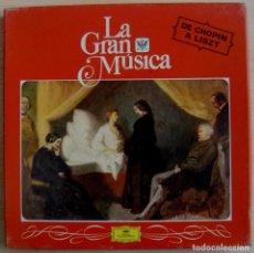 Discos de vinilo: LA GRAN MUSICA - DE CHOPIN A LISZT - CAJA CON 4 LP´S - . Lote 143195926