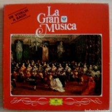 Discos de vinilo: LA GRAN MUSICA - DE VIVALDI A BACH - CAJA CON 4 LP´S. Lote 143197586