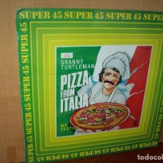 Discos de vinilo: GRANNY TURTLEMAN - PIZZA FROM ITALY - MAXI SINGLE . Lote 143198566