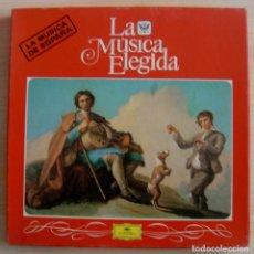 Discos de vinilo: LA MUSICA ELEGIDA - LA MUSICA DE ESPAÑA - CAJA CON 4 LP´S. Lote 143198594