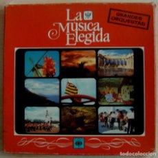 Discos de vinilo: LA MUSICA ELEGIDA - GRANDES ORQUESTAS - CAJA CON 4 LP´S + LIBRO. Lote 143199474