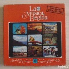 Discos de vinilo: LA MUSICA ELEGIDA - GRANDES ORQUESTAS - CAJA CON 3 LP´S . Lote 143199718
