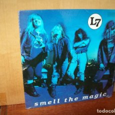 Discos de vinilo: L7 - SMELL THE MAGIC - LP VINILO COLOR ROSADO. Lote 143200574