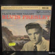 Discos de vinilo: ELVIS PRESLEY - PEACE IN THE VALLEY +3 - EP. Lote 143201002