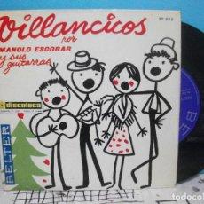 Discos de vinilo: MANOLO ESCOBAR Y SUS GUITARRAS – VILLANCICOS - EP BELTER SPAIN 1959. Lote 143206590