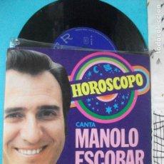 Discos de vinilo: MANOLO ESCOBAR / HOROSCOPO / PROTESTA DE AMOR (SINGLE 1972). Lote 143207246