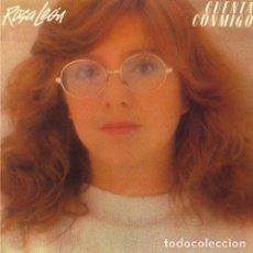 Discos de vinilo: ROSA LEON - CUENTA CONMIGO. Lote 143207410