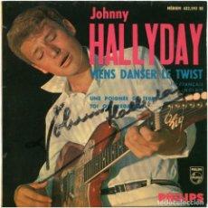 Discos de vinilo: JOHNNY HALLYDAY - VIENS DANSER LE TWIST (LET'S TWIST AGAIN) - EP FRANCE 1961 - PHILIPS 432.593 BE. Lote 143215810