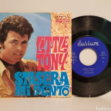 Discos de vinilo: LITLE TONY. STASERA MI DENTO(LA CRIME). SINGLE. Lote 143218562