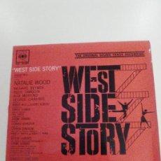 Discos de vinilo: WEST SIDE STORY (1962 CBS SP) ESTA NOCHE BAILE EN EL GIMNASIO MARIA UNA CHICA ATRACTIVA BERNSTEIN . Lote 143225502