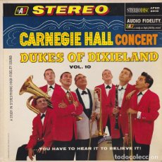Discos de vinilo: DUKES OF DIXIELAND – CARNEGIE HALL CONCERT, VOL. 10 . Lote 143241002