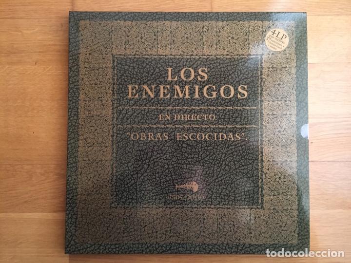 LOS ENEMIGOS: OBRAS ESCOCIDAS, EN DIRECTO 1985-2000 (4 LPS) (Música - Discos - LP Vinilo - Grupos Españoles de los 90 a la actualidad)
