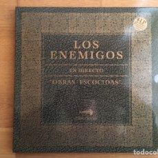 Discos de vinilo: LOS ENEMIGOS: OBRAS ESCOCIDAS, EN DIRECTO 1985-2000 (4 LPS). Lote 143249053