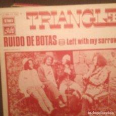 Discos de vinilo: TRIANGLE: RUIDO DE BOTAS / LEFT WITH MY SORROW EMI 1971 ED ESPAÑA. Lote 143252886