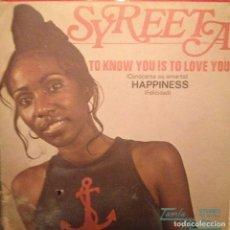 Discos de vinilo: SYREETA: TO KNOW YOU IS TO LOVE YOU / HAPPINESS TAMLA MOTOWN 1972 ED ESPAÑA STEVIE WONDER. Lote 143261514