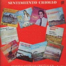 Discos de vinilo: SENTIMIENTO CRIOLLO - TEMAS Y ARTISTAS ORIGINALES ..LP DE 1980 FABRICADO EN VENEZUELA ,RF-6951. Lote 143262470