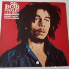 Discos de vinilo: BOB MARLEY - REBEL MUSIC - HOLLAND LP 1986 + ENCARTE - VINILO EXC. ESTADO.. Lote 143271758