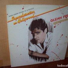 Discos de vinilo: GLENN FREY - THE HEAT IS ON - MAXI SINGLE DE LA BSO SUPERDETECTIVE EN HOLLYWOOD. Lote 143274178